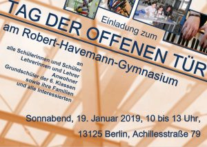 Robert-Havemann-Gymnasium: TdoT @ Robert-Havemann-Gymnasium