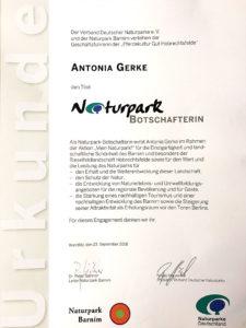 A. Gerke Botschafterin Naturpark Barnim