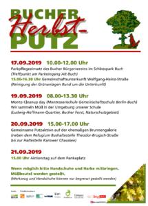 Bucher Herbstputz - Monte-Cleanup-Day (Montessorischule Gemeinschaftsschule Berlin Buch) @ Montessorischule