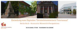 """Digitaler """"Ortsteilstammtisch Tourismus"""" in Buch am 30. Oktober"""